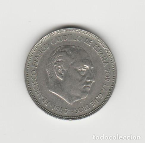 ESTADO ESPAÑOL-25 PESETAS-1957-BA (Numismática - España Modernas y Contemporáneas - Estado Español)