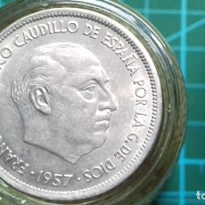 Monedas Franco: MONEDA ESTADO ESPAÑOL 25 PESETAS 1957*68 (SC) CON PLUS ULTRA. Lote 187579871
