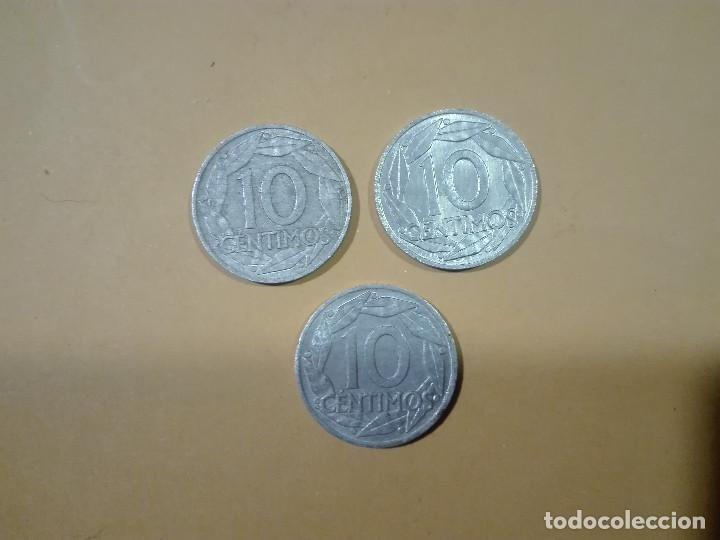 3 MONEDAS DE 10 CENTIMOS DE PESETA AÑO 1959 ESPAÑA (Numismática - España Modernas y Contemporáneas - Estado Español)
