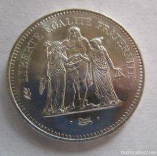 Monedas Franco: FRANCIA . 50 FRANCOS DE PLATA ANTIGUOS . PIEZA DE GRAN TAMAÑO SIN CIRCULAR. Lote 221884357