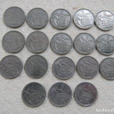 Monedas Franco: COLECCION COMPLETA DE LAS 18 MONEDAS DE 5 PTS DE FRANCO DE 1957 INCLUIDA LA ESTRELLA 63. Lote 189099587