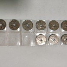 Monedas Franco: FRANCISCO FRANCO 50 CENTIMOS SERIE COMPLETA. Lote 189223205