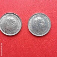 Monete Franco: 50 PESETAS, FRANCISCO FRANCO. 1957 *58 Y *59. Lote 189502161