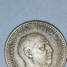 Monedas Franco: MONEDA DE 1 PESETA FRANCO CON EXTRAÑO ERROR. Lote 189890167