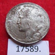 Monedas Franco: ESPAÑA , 5 CENTIMOS HIERRO 1937 , 2ª REPUBLICA , BUSTO MENOR, GUERRA CIVIL, ZONA ROJA. Lote 190566721