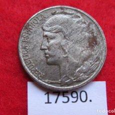 Monedas Franco: ESPAÑA , 5 CENTIMOS HIERRO 1937 , 2ª REPUBLICA , BUSTO MENOR, GUERRA CIVIL, ZONA ROJA. Lote 190566725