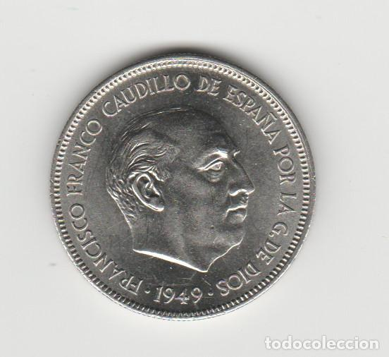 5 PESETAS- 1949*19-49-SC (Numismática - España Modernas y Contemporáneas - Estado Español)
