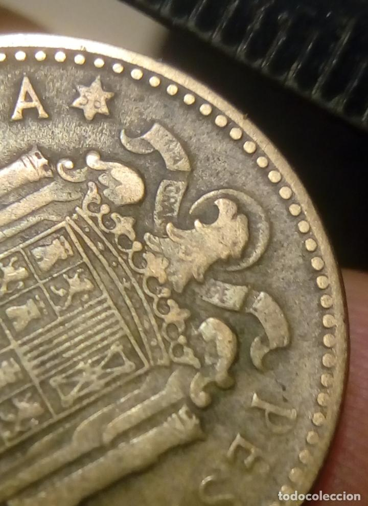Monedas Franco: moneda de 1 peseta de franco 1947 *56 - Foto 2 - 190901500