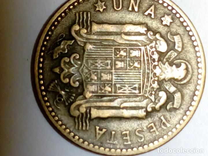 Monedas Franco: moneda de 1 peseta de franco 1947 *56 - Foto 4 - 190901500