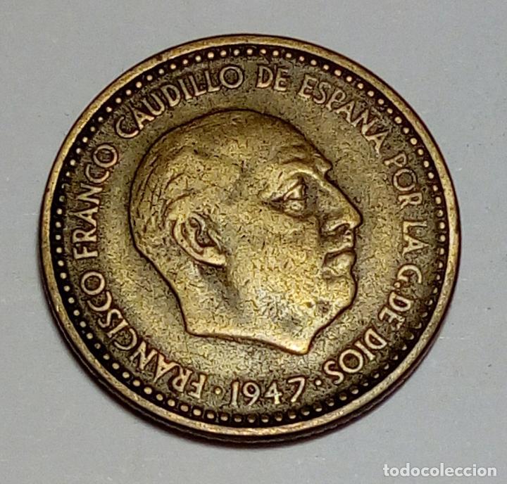 MONEDA DE 1 PESETA DE FRANCO 1947 *56 (Numismática - España Modernas y Contemporáneas - Estado Español)