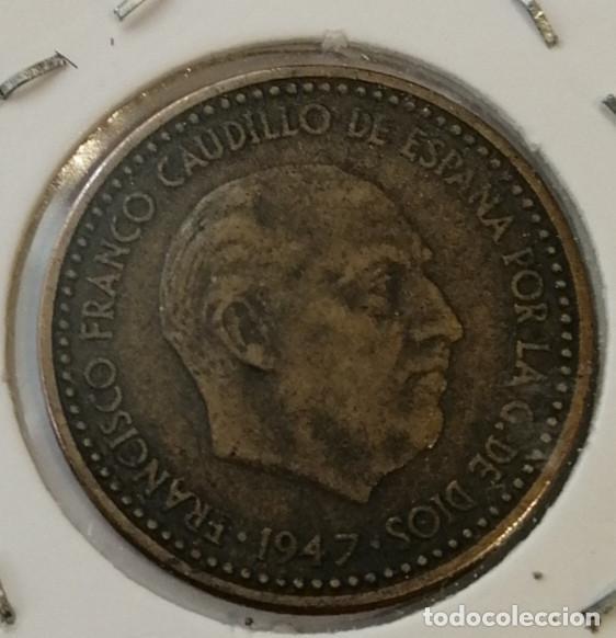 Monedas Franco: 1 PTS 1947 ESTRELLA 51 TOTALMENTE VISIBLE Y CLARA ,ESCASA,MUY BUEN ESTADO #5 - Foto 2 - 191880448
