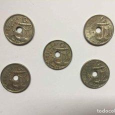 Monedas Franco: LOTE 5 MONEDAS: 50 CÉNTIMOS (1949) FRANCO. ORIGINALES. ¡COLECCIONISTA!. Lote 191890815