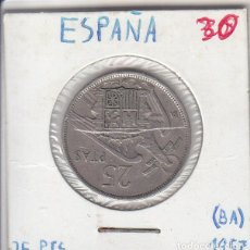 Monedas Franco: 25 PESETAS - 1957 BA. Lote 191906971