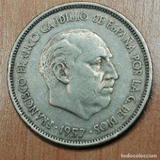 Monedas Franco: 25 PESETAS FRANCO 1957 ESTRELLA 61. Lote 191919100