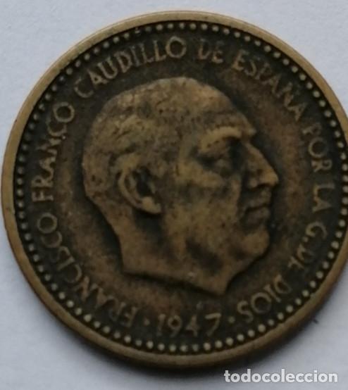 Monedas Franco: 1 PTS 1947 ESTRELLA 50 TOTALMENTE VISIBLE ,ESCASA,MUY BUEN ESTADO #45 - Foto 2 - 192230078