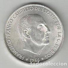 Monedas Franco: MONEDA DE PLATA 100 PESETAS 1966 FRANCO SC SIN CIRCULAR GRAN TAMAÑO EXCEPCIONAL CALIDAD ESTRELLA 66. Lote 192884330