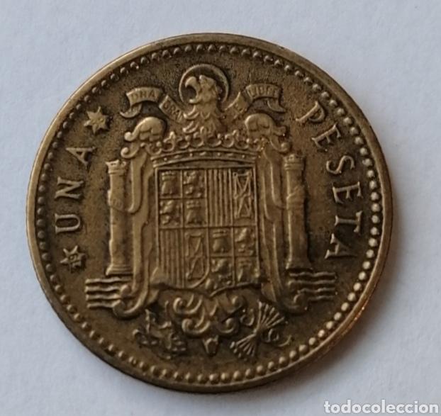 Monedas Franco: 1 PTS 1947 ESTRELLA 56 VISIBLE ,ESCASA Y DIFICIL DE CONSEGUIR,MU BUEN ESTADO - Foto 2 - 193051323