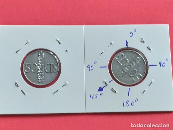 ## ERROR - 50 CENT 1966+68 REVERSO GIRADO 125º ## (Numismática - España Modernas y Contemporáneas - Estado Español)