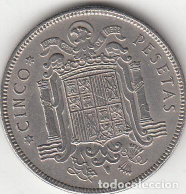 Monedas Franco: FRANCO: 5 PESETAS 1949 ESTRELLA 19-50 - Foto 2 - 39806801