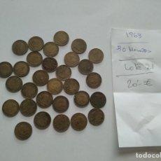 Monedas Franco: 30 - MONEDAS FRANCO 1 PESETA AÑO 1963 - NO LIMPIADAS - NO CLASIFICADAS. Lote 193763400