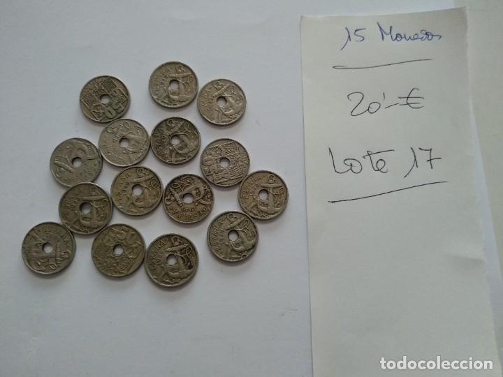 LOTE 15 MONEDAS 0,50 CENTIMOS. VARIOS AÑOS - SIN LIMPIAR - VER FOTOS (Numismática - España Modernas y Contemporáneas - Estado Español)
