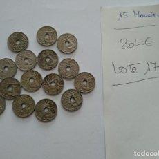 Monedas Franco: LOTE 15 MONEDAS 0,50 CENTIMOS. VARIOS AÑOS - SIN LIMPIAR - VER FOTOS. Lote 193820833