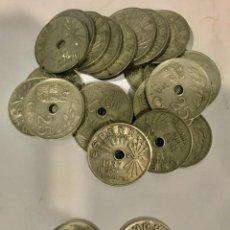 Monedas Franco: LOTE DE 25 MONEDAS ESPAÑOLAS DE VEINTICINCO CÉNTIMOS DEL 1937. Lote 193836005