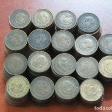 Monedas Franco: LOTAZO DE 230 MONEDAS DE UNA PESETA DE FRANCO DE 1953 LAS HAY SIN CIRCULAR TODAS ESTRELLAS VISIBLES. Lote 194009275