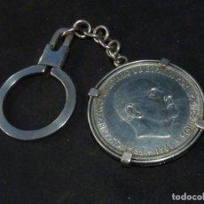 Monedas Franco: LLAVERO MONEDA FRANCO 100 PESETAS PLATA AÑO 1966 COLECCION. Lote 194204402