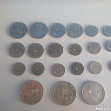 Monedas Franco: LOTE DE 21 MONEDAS ESPAÑOLAS.. Lote 194231496
