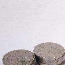 Monedas Franco: 9MONEDAS DE 25PESETAS 1957 E66. Lote 194270315