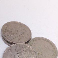 Monedas Franco: 5MONEDAS DE 25PESETAS AÑO 1957 E74. Lote 194283788