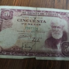 Monedas Franco: A1. BILLETE DE CINCUENTA PESETAS. 1951. Lote 194294021