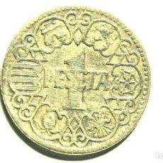 Monedas Franco: UNA PESETA AÑO 1944 EBC. FRANQUISMO. Lote 194320758