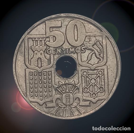 Monedas Franco: 50 céntimos 1963 estrellas 19 64 Estado español Franco moneda - Foto 2 - 194327555