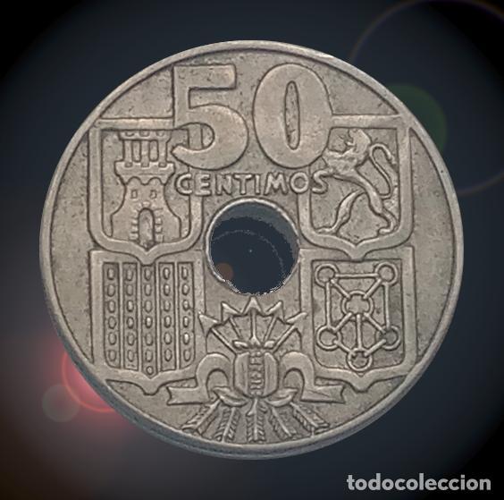 Monedas Franco: 50 céntimos 1963 estrellas 19 65 Estado español Franco moneda - Foto 2 - 194328886