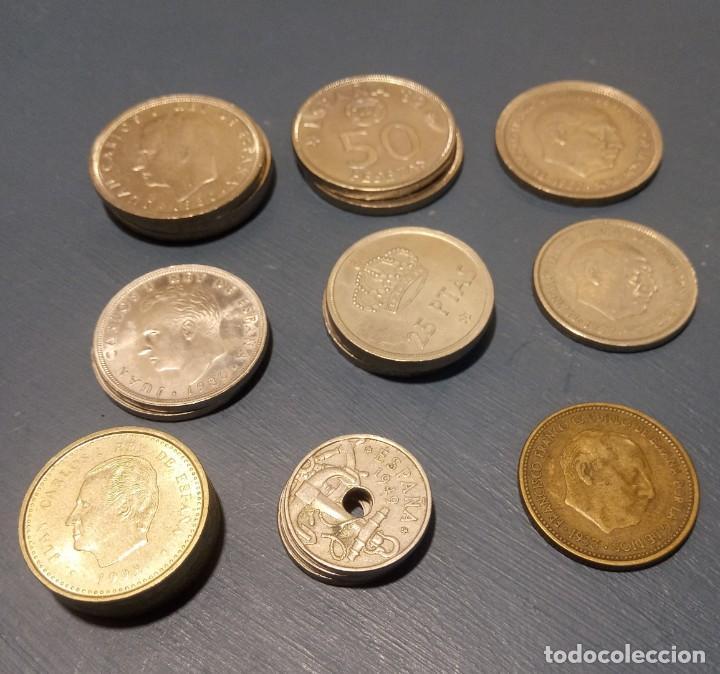 19 MONEDAS DE 100, 50, 25, Y 2,50 PESETAS. AÑOS 1975, 1980, 1963, 1996, 1953 (Numismática - España Modernas y Contemporáneas - Estado Español)
