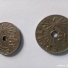 Monedas Franco: 2 MONEDAS 25 CÉNTIMOS 1937 II AÑO TRIUNFAL. Lote 194385856