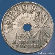 Monedas Franco: 25 CÉNTIMOS 1937 II AÑO TRIUNFAL ESTADO ESPAÑOL FRANCO MONEDA. Lote 194393691