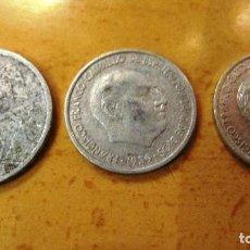 Monedas Franco: TRES MONEDAS ANTIGUAS ESPAÑOLAS.. Lote 194506053
