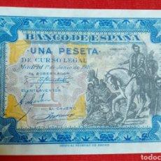 Monedas Franco: BILLETE 1 PESETA 1940. SIN CIRCULAR, SIN SERIE !! LUJO !!. Lote 194515898