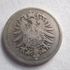 Monedas Franco: ALEMANIA . 1 MARCO DE PLATA ANTIGUO . AÑO 1875- A. Lote 194561456