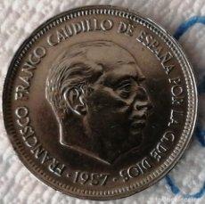 Monedas Franco: MONEDA 50 PESETAS FRANCO 1957*59.LEYENDA EN CANTO UNA LIBRE GRANDE. Lote 194565682