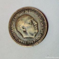 Monedas Franco: 1 PESETA DE FRANCO 1947 *53 - ERROR EXCESO. Lote 194581815