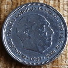Monedas Franco: 5 PESETAS FRANCO 1957*63. Lote 194582280