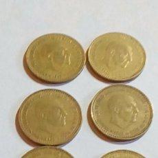 Monedas Franco: SEIS MONEDAS DE UNA PESETA DE 1966-*19 Y *75 FRANCISCO FRANCO. Lote 194617637