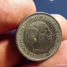 Monedas Franco: EXCASA 25 PESETAS 1957 ESTRELLA *61 .PATINA Y BRILLO ORIGINAL. EBC.(LA MAS COTIZADA Y EXCASA . Lote 194624033