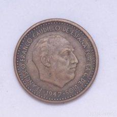 Monedas Franco: ¡¡¡ 1 PESETA DEL ESTADO ESPAÑOL DE 1947*56 ERROR MBC+ !!!. Lote 194677555