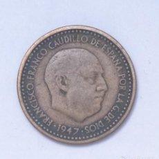 Monedas Franco: ¡¡¡ 1 PESETA DEL ESTADO ESPAÑOL DE 1947*56 ERROR BC !!!. Lote 194678035