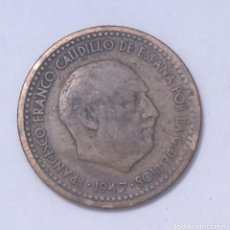 Monedas Franco: ¡¡¡ 1 PESETA DEL ESTADO ESPAÑOL DE 1947*56 ERROR BC !!!. Lote 194678151